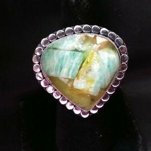Copper Amazonite Ring